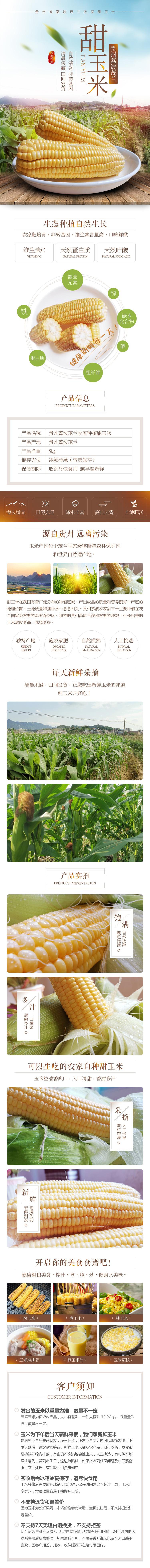 玉米水果土特产食品详情页