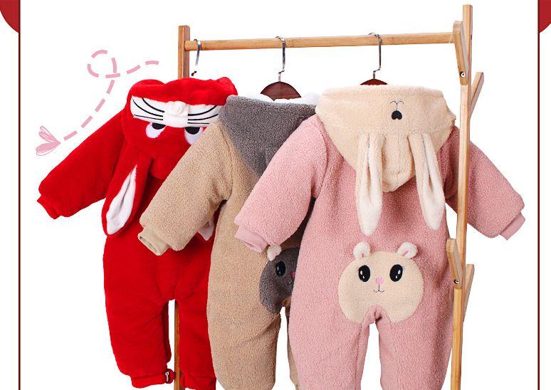 宝宝儿童连体衣冬装服装详情页