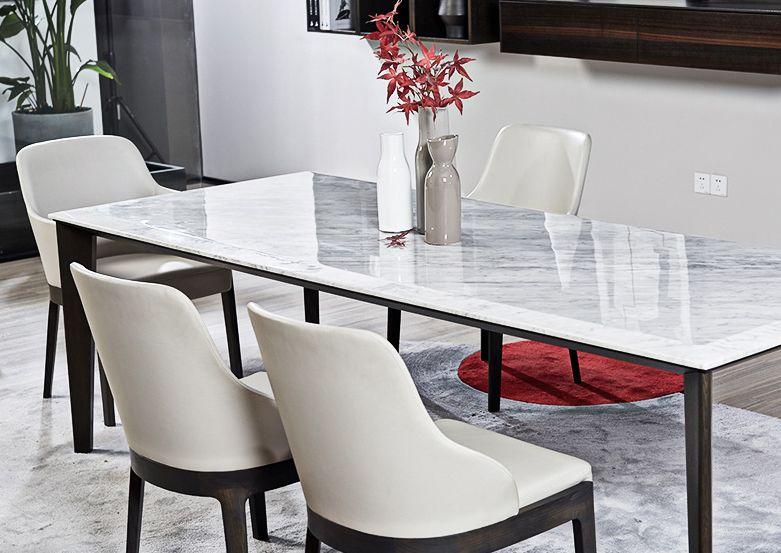 北欧家具大理石餐桌详情页
