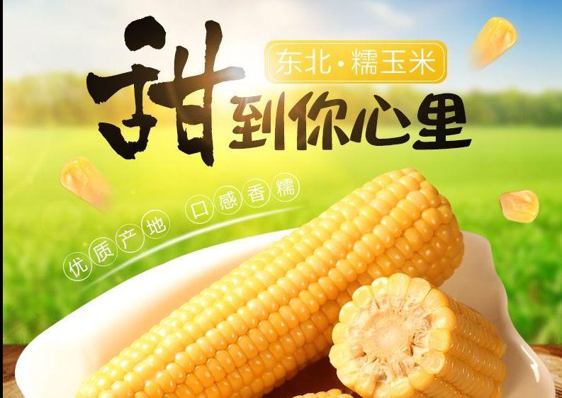 玉米土特产水果食品详情页