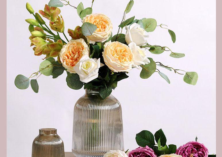 家居装饰品艺术摆件花束仿真花假花详情页