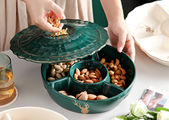 陶瓷干果盒糖果盒 厨具居家日用