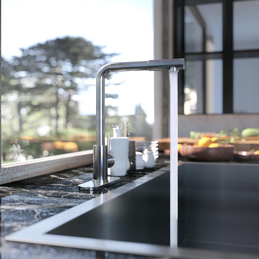 厨房龙头渲染氛围图展会图-家居建材-家装主材-厨房龙头